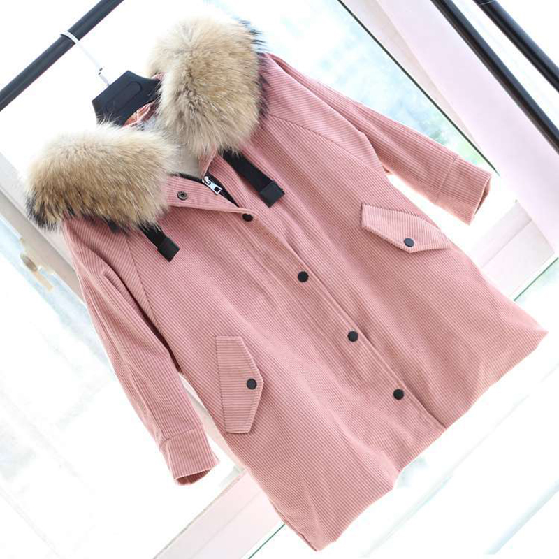 JKP 2018 winter children's fur coat stars models corduroy jacket men and women long thick warm Outerwear coats ZPC-158 pu leather and corduroy spliced zip up down jacket