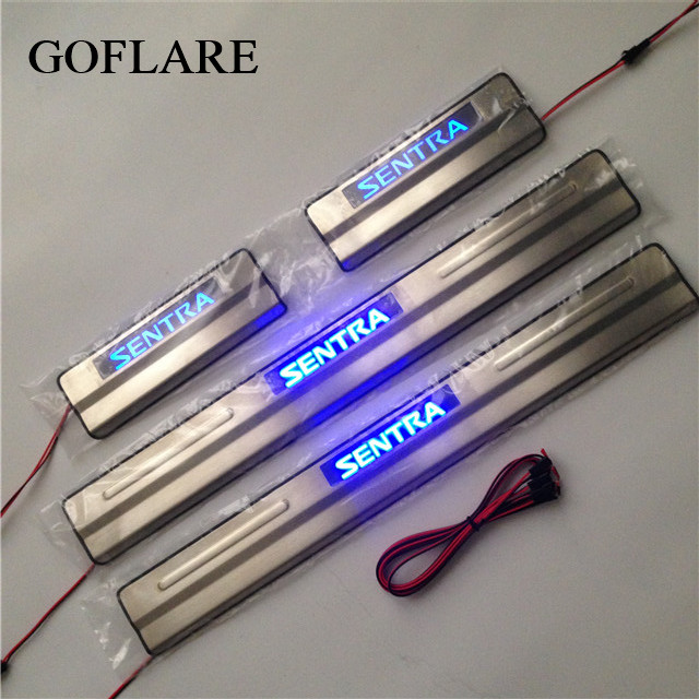 led auto door sill strip for Nissan Sentra B17 accessories ...