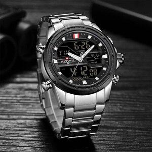Image 4 - NAVIFORCE 男性腕時計スポーツクォーツデジタル男性の時計のボックスセットで販売男性軍事防水時計レロジオ Masculino
