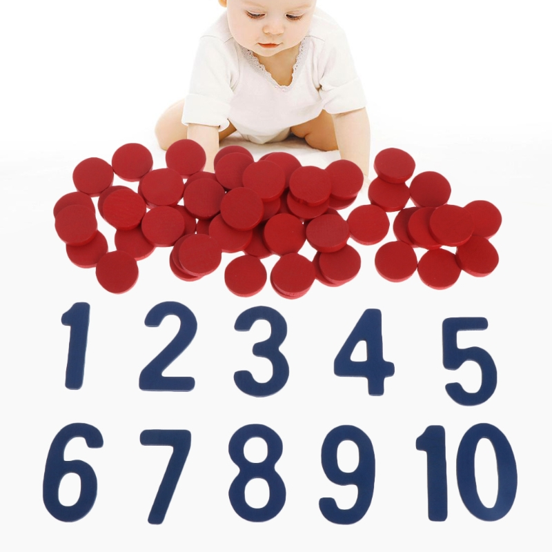 Montessori Number Counter Cards School Math Homeschool Curriculum Teaching Aid Toy