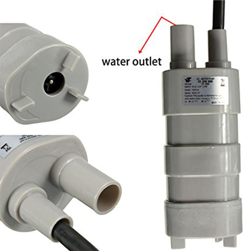 Mini Pump 12V DC 1.2A Micro Submersible Water Pumps High Lift 14LM Max Suction 5M DC156