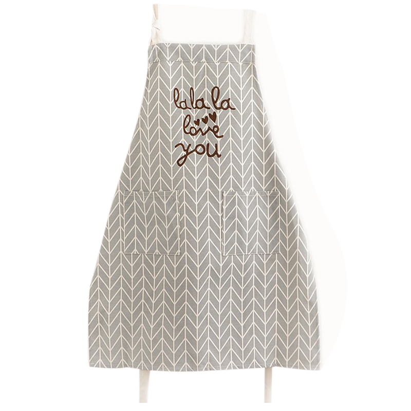 Buy now Practical Boutique Kitchen Cooking Apron with Pockets Fashion Universal for Women Men Girls, cotton and