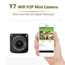 Y7 Wifi P2P Mini Câmera Do Telefone Móvel Point-to-Point Digital Filmadora Mini Lente Zoom Wi-fi Sem Fio AP foco Cam
