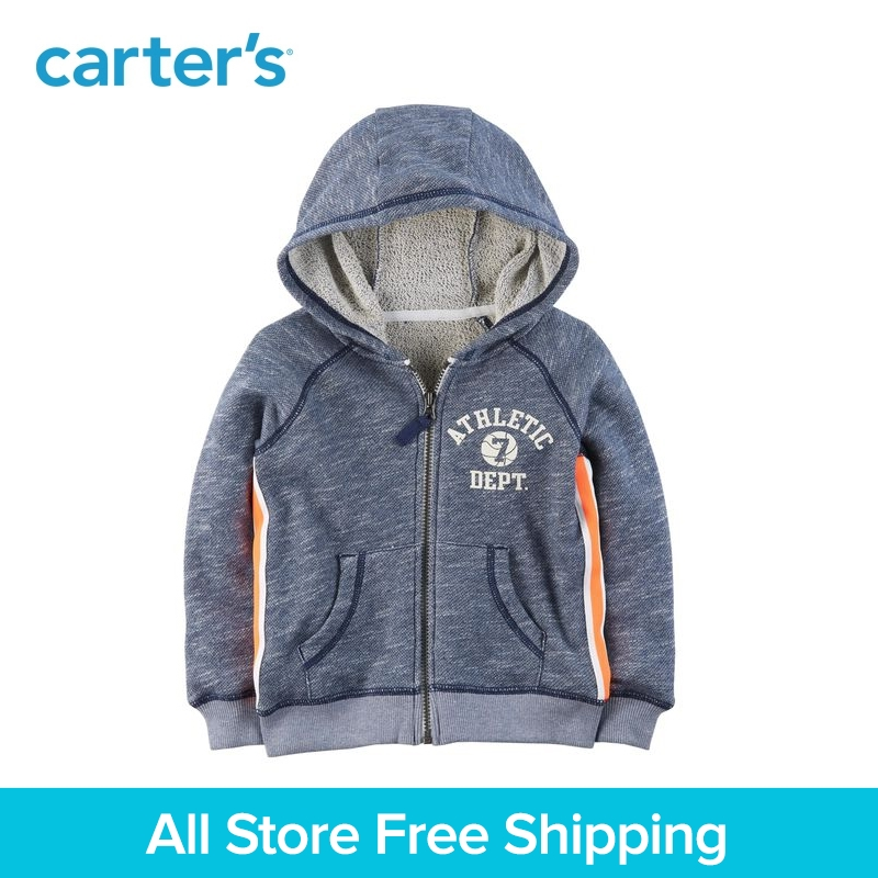 цена на Carter's 1-Piece baby children kids clothing Boy Spring Zip-Up French Terry Hoodie 263H749