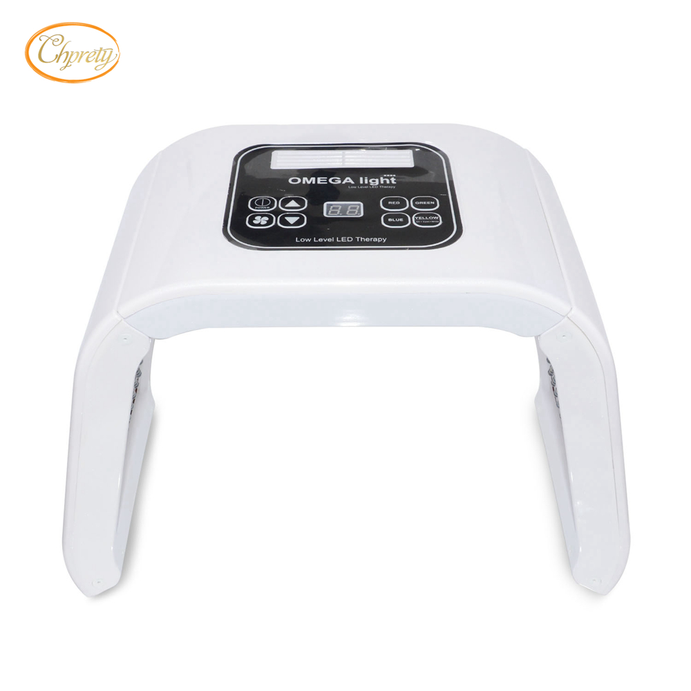 7 Color Omega LED Photon Light Therapy Lamp Home Use Facial Body Beauty SPA PDT Mask Skin Tighten Rejuvenation Acne Wrinkle Remo rechargeable pdt heating led photon bio light therapy skin care facial rejuvenation firming face beauty massager machine