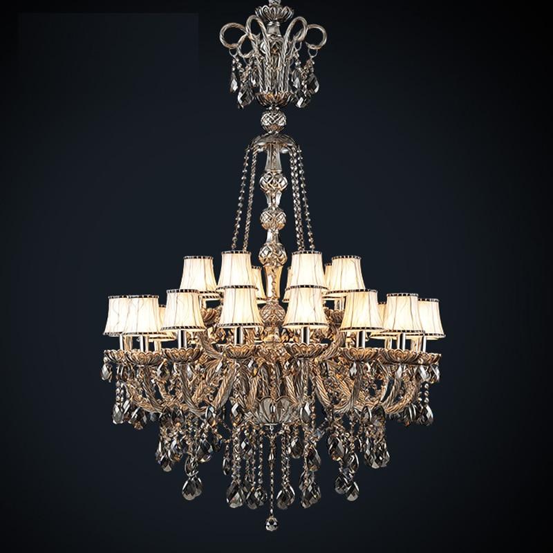 retro verlichting kroonluchters lamp Rook grijs kristallen - Binnenverlichting - Foto 1