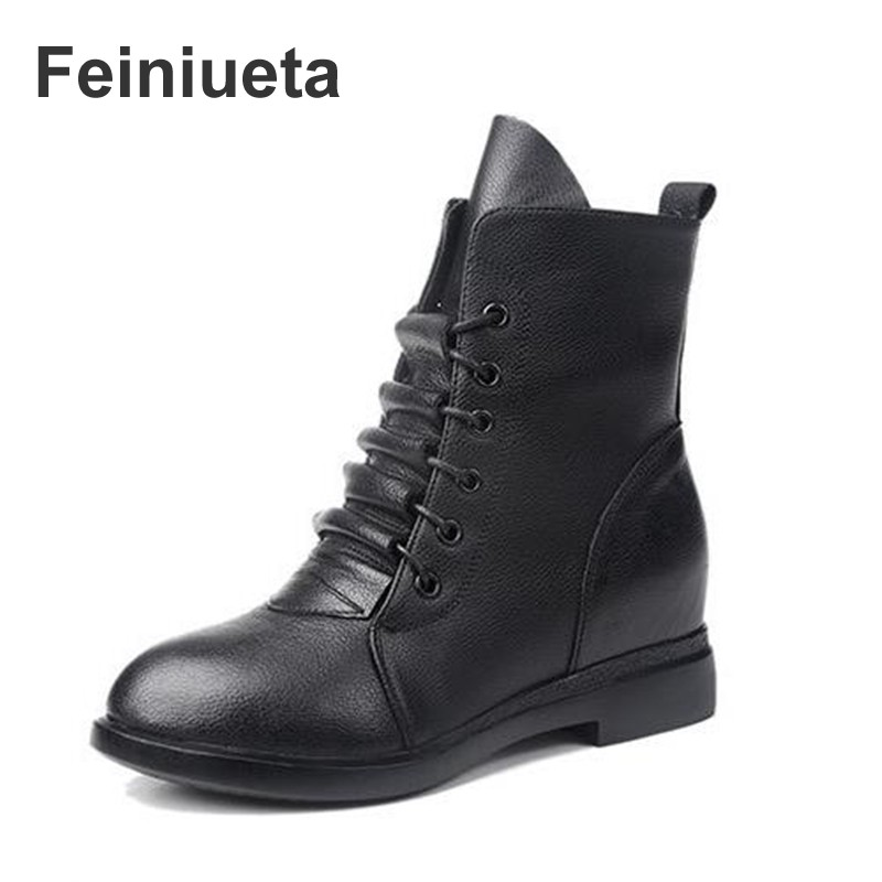 2017 Feiniueta autumn and winter new shoes retro Chelsea boots women's British style belt leather boots women boots Martin boots autumn and winter new leather shoes with leather boots and boots with flat boots british classic classic hot wild casual shoes