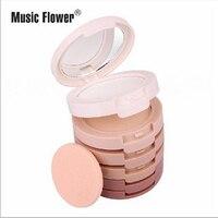 Music Flower 5 в 1 затенение порошок стойкий минеральная вода Magic пудра с зеркалом и буфами на рукавах Для женщин Make up