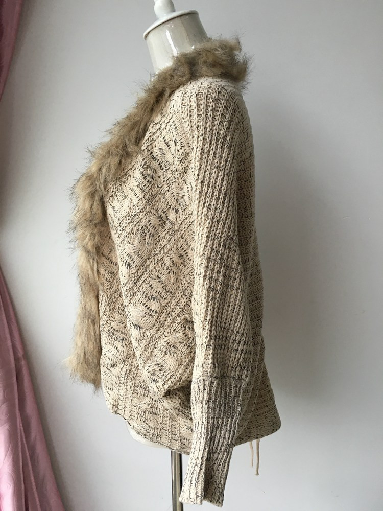 lady spring autumn sweater with fur (7)