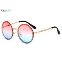 2019 New Style Round Women Sunglasses Retro Metal Men UV400 Fashion Sun Glasses