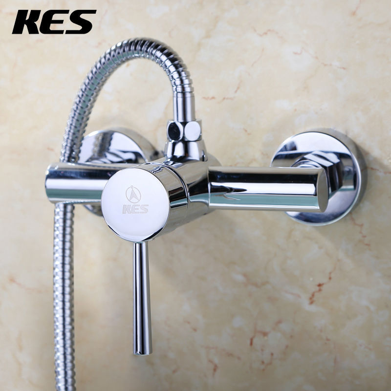 KES L618A/B Bathroom Lavatory Shower Faucet Showering Mixer Wall ...