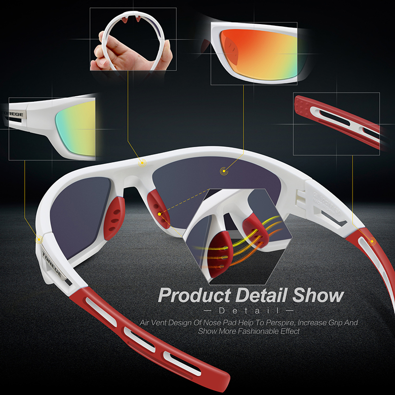 50d07220f2 TOREGE Polarized Sports Sunglasses for Men Women Cycling Running ...