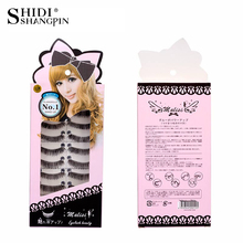 SHIDISHANGPIN 10 Pairs Eyelashes Synthetic Hair False  Natural Long Wispy Lashes Fake Makeup maquiagem