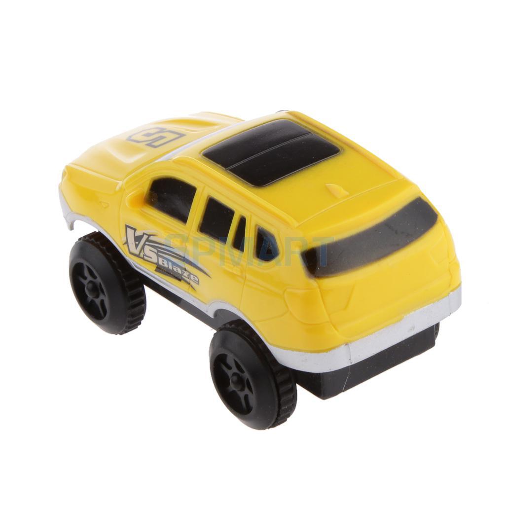 DIY Rail Toy Car Mini Electric Car Race Car Toy Vehicle Kids Toy Gift