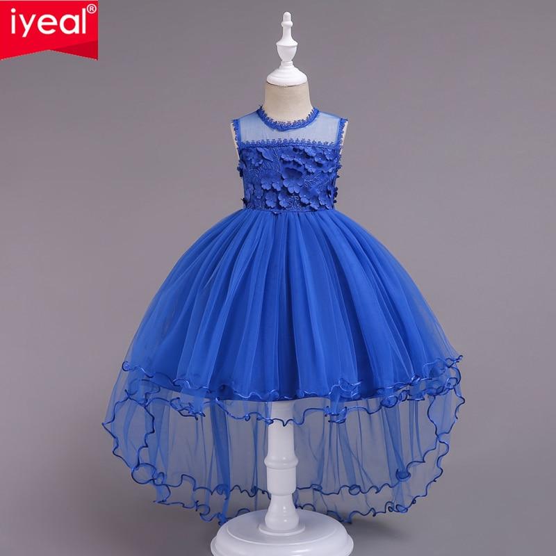 IYEAL Girls First Holy Communion Dresses for Girl Flower Girl Dress 4-14 yrs Teen Kids Ball Gowns Wedding Party Children Clothes цены онлайн