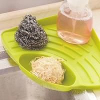 Multifunctional Draining Rack Triangular Sink Corner Sponge Storage Shelf for Kitchen ALI88