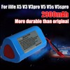 Good Quality Robot Cleaner Battery 11 1V 2600mAh Replacement Parts For Ecovacs Ilife V1 V3 X3