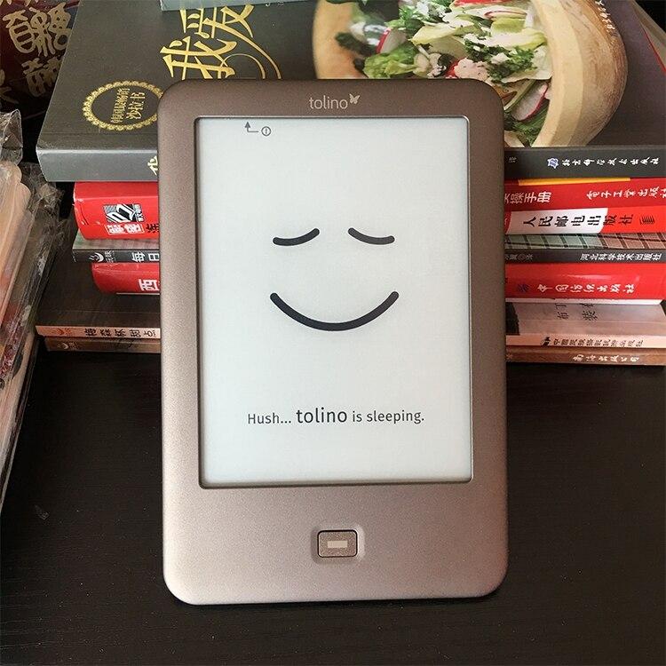 Construido en la luz e-Book Reader WiFi ebook Tolino Shine e-ink pantalla táctil de 6 pulgadas 1024x758 electrónicos lector de libro