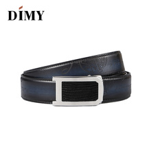 DIMY Cowhide Genuine Leather Belts For Men Vintage Fashion Business Automatic Male Pin Buckle First Layer Handmade Belt