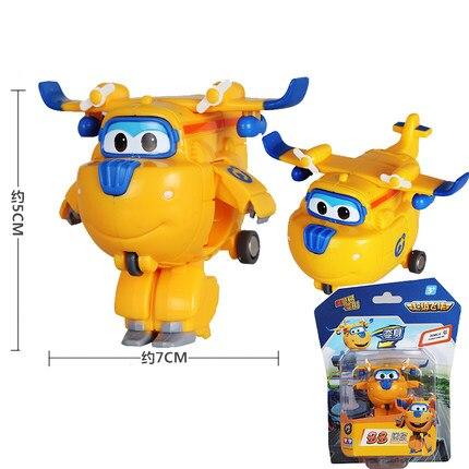 12 стилей, мини Супер Крылья, деформация, мини реактивный ABS робот, игрушка, фигурки, Супер крыло, трансформация, игрушки для детей, подарок - Цвет: With box Donnie