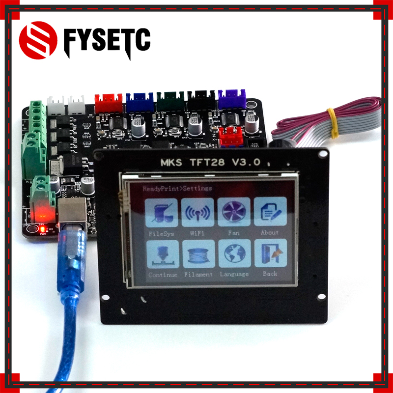 MKS Base V1.5 3D Printer Control Board With USB Mega 2560 R3 Motherboard + MKS TFT28 Display Color TFT 3d Printing Touch Screen 3d printing wireless router hlk rm04 wifi module mks hlkwifi v1 1 remote control for mks tft touch screen high stability