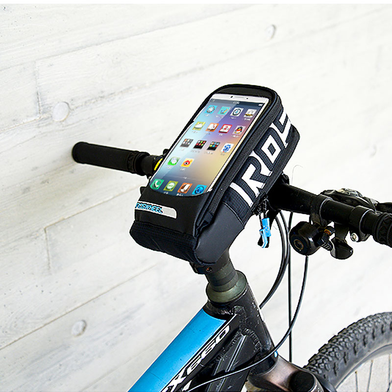ROSWHEEL Cycling Bag Bike Front Pannier Basket Handlebar Touch Case For 7-8 Inch