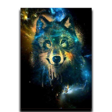 5D Diy Diamond Animal Painting Snow Wolf Crafts Mosaic Crystal Rhinestones Full Square Embroidery