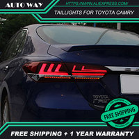 Стайлинга автомобилей задний фонарь задние фонари чехол для Toyota camry 2017 2018 светодио дный Toyota camry задние фонари задний фонарь задний багажник