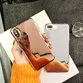 Простое покрытие зеркало телефонные чехлы для iphone X XR XS Max блестящие Силиконовые чехол для iphone 6 6s 7 8 плюс задняя крышка - фото