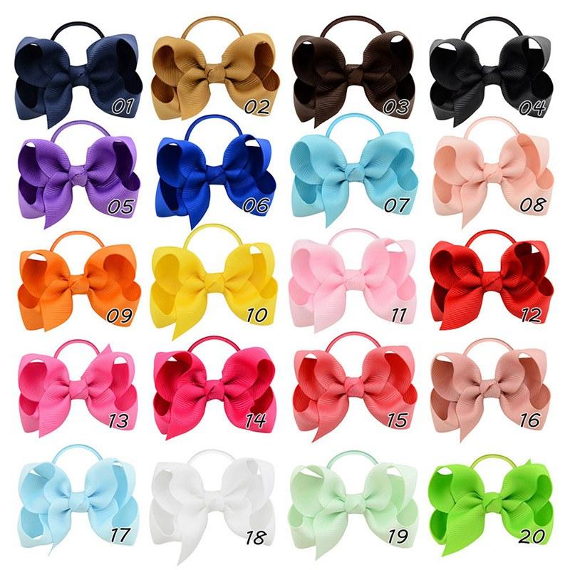 "24pcs Baby Girl Kid Grosgrain Ribbon Boutique Hair Bow Alligator Clip Lots 3.5/"""