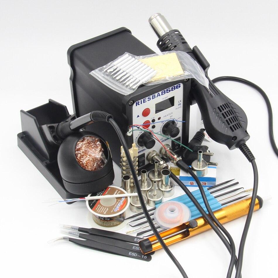 8586 110V / 220V 700W 2 in 1 SMD Rework Soldering Station Hot Air Gun все цены