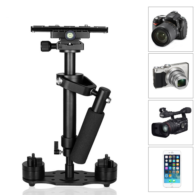 New Portable Handheld Stabilizer Video Steadycam Stabilizers With Quick Release Plate For Canon Nikon Sony Camera GoPro dhl free yelangu ylg 0108f for sony canon camera video 1 4 screw stabilizer handheld mechanica spider stabilizer quick release