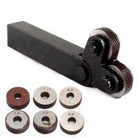 1pc New Steel Knurling Tool With 6pcs Diagonal Linear Knurl Wheel Set 0 5mm 1mm 2mm