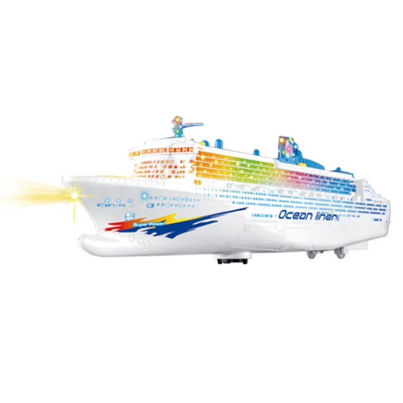 Electric Cruises Ship Model Boat Toys Music Flashing Children Gift Game