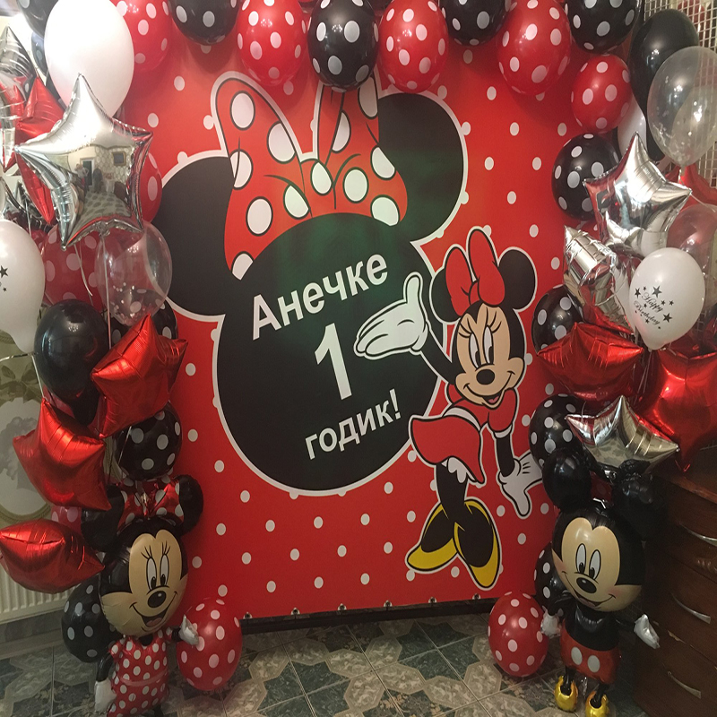 1pc 18inch Heart Mickey Mouse Party Supplies Foil Balloons Minnie Mouse Birthday Party Decor Kids Toys Air Globos Wedding Gifts