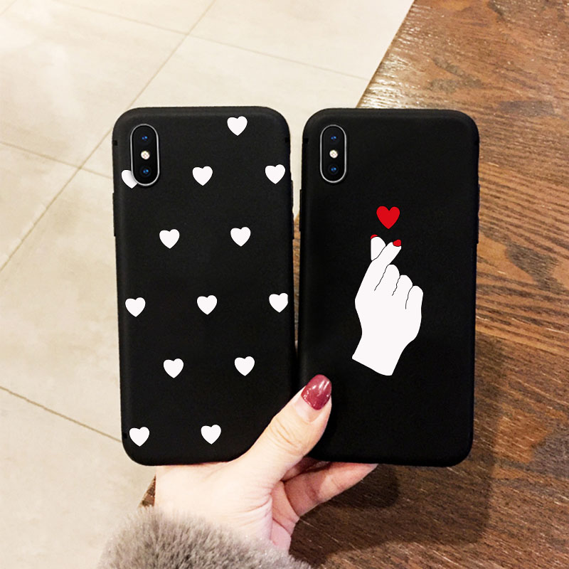 Animal Love Heart Soft TPU Silicone Cases for iPhone 6s 6 7 8 Plus  Phone Case For iPhone 5 S SE X  XS Max XR Coque Frosted Fund