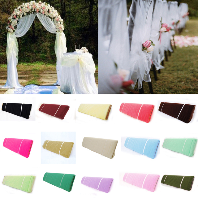 "54""x120 FT (40 yards) Tutu Fabric TULLE Bolt Pew Bow Craft For DIY Banquet Wedding Decoration Birthday Party Kids Baby Shower"