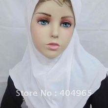 H267a маленькие девочки хиджаб, мусульманин шляпа, популярный дизайн, быстрая, можете заказать один десяток Все Белый
