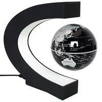 Nouveauté/Magique Éclairage Décoration de La Maison Lampe Nuit Chambre Lumière Carte Du Monde LED Magnétique Lévitation Lumière Lampe de Table