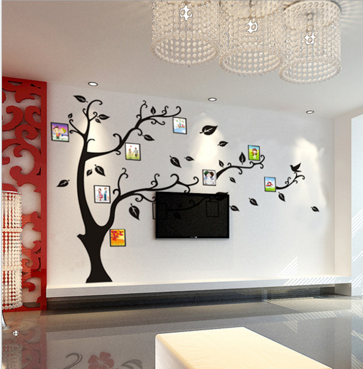 Online Shop Photo Wall Family Tree Decal Poster Photo Picture Frame White  Creation Sticker Home Bedroom Dec Funny Hall Bedroom For Children |  Aliexpress ...