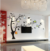Фото стены семья дерево термоаппликации плакат жк-цифровая фоторамка белый создание дома спальня декабря забавный зал спальня для детей