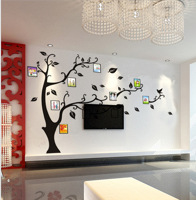 Photo Wall Family Tree Decal Poster Photo Picture Frame White Creation  Sticker Home Bedroom Dec Funny