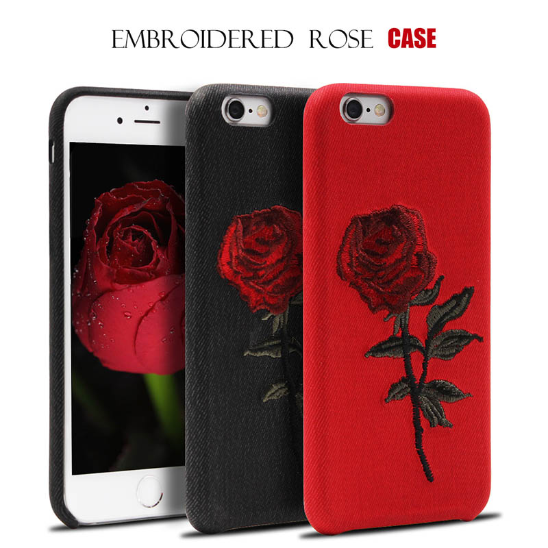 Luxury Beautiful Rose Flower Cover For Apple iPhone X 8 7