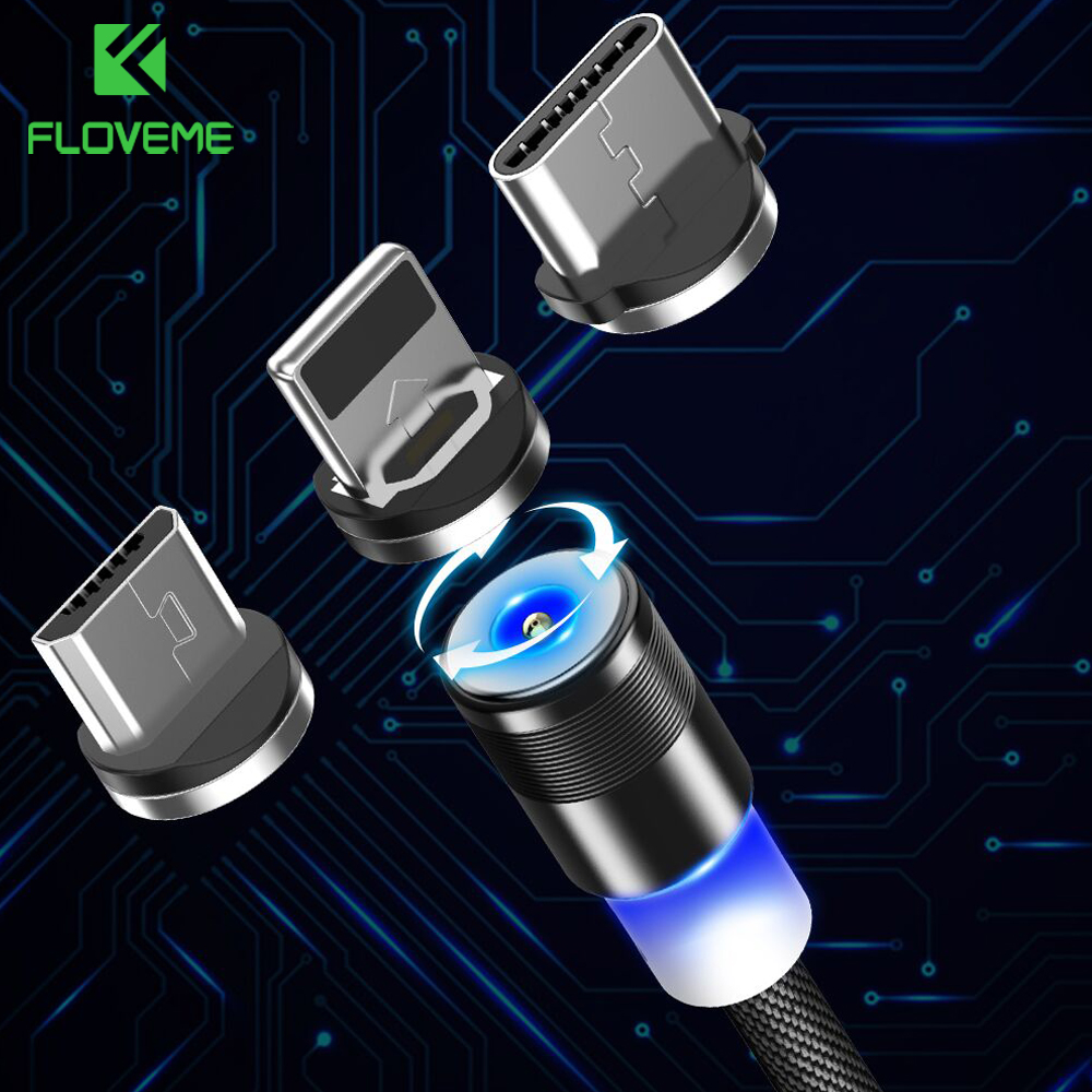 Industrious Floveme Usb C Magnetic Cable For Samsung Galaxy S9 S8 Plus 1m 5v2a Type C Micro Usb Cable For Iphone X Se Magnet Charger Cabo