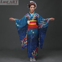 Japanese kimono traditional dress cosplay female yukata women haori Japan geisha costume obi kimonos woman 2018 AA036
