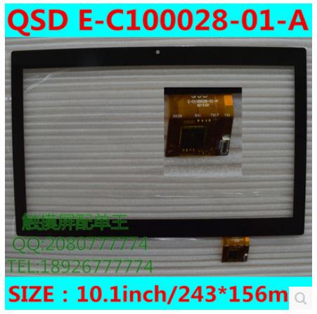 Nuevo 10.1 pulgadas tableta de pantalla táctil capacitiva QSD E-C100028-01-A envío gratis
