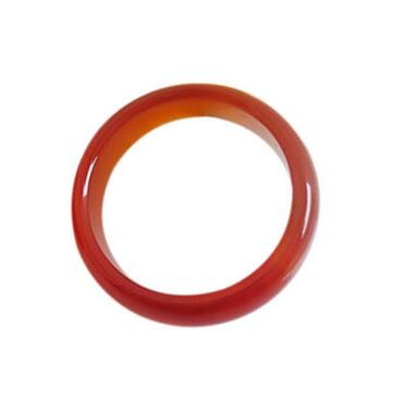 Wholesale Unisex Women's Natural AgateCarnelian Solid Band Ring Jade Size 7-9