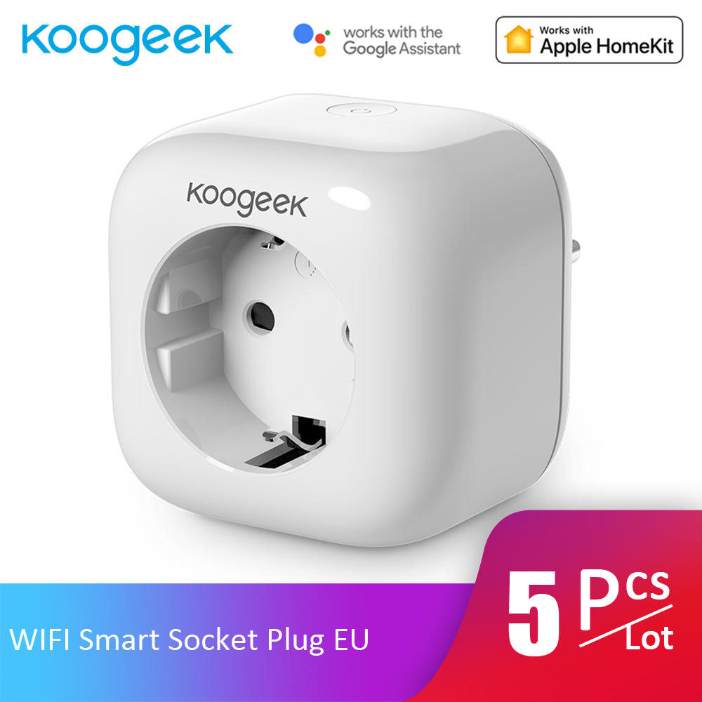 5pcs Lot Koogeek WIFI Smart Socket Plug APP Control Monitor Energy Consumption Home Smart Outlet for