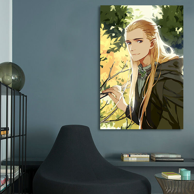 Fai Da Te Pittura Digitale Il Signore Degli Anelli Legolas Modulare
