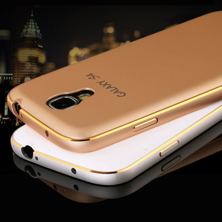 Luxury Metal+PC Back Cover Ultrathin i9500 Frame Cell Mobile Phone Cases Aluminum Bumper For Samsung Galaxy S4 Case